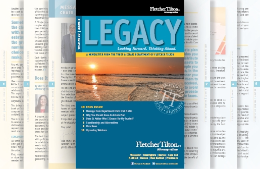 Legacy Newsletter - Volume 20 Issue 2